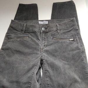 Loft gray Modern Skinny Ankle cords, size 2/ 26